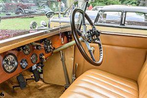 Interieur van een Rolls-Royce 40/50pk Phantom I Regent Convertible Coupé klassieke auto