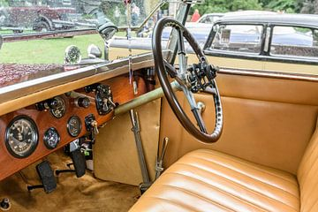 Interieur van een Rolls-Royce 40/50pk Phantom I Regent Convertible Coupé klassieke auto van Sjoerd van der Wal