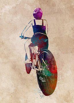 wielersport kunst #fietsen #fietsen #fietsen van JBJart Justyna Jaszke