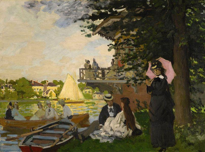 L'Embarcadère (Der Pier), Claude Monet von Meesterlijcke Meesters