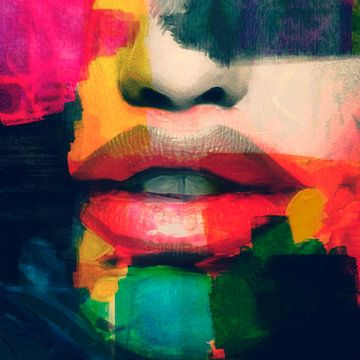 Love u lips - Abstrakt Game van Felix von Altersheim