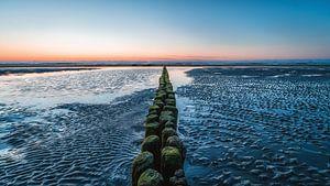 Buhne op het strand van Norderney van Steffen Peters