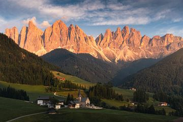 Val di Funes - Dolomieten Italië van Vincent Fennis