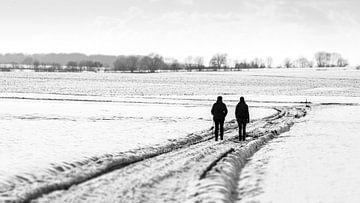 wandeling in de sneeuw van Guy Lambrechts