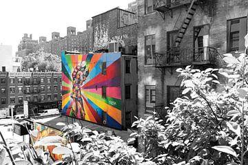 Blick von der High Line in New York van Kurt Krause
