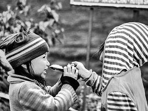 Sharing lunch (Sa Pa, Vietnam)