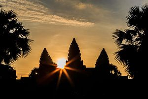 Zonsopkomst bij de tempel van Angkor