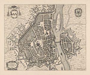 Plattegrond van Maastricht van anno ca 1700