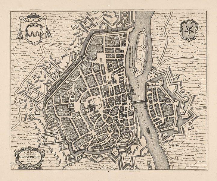 Plattegrond van Maastricht van anno ca 1700 van Gert Hilbink