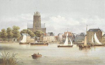 Ansicht von Dordrecht, Christiaan Bos
