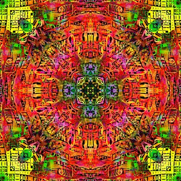 Mandala Liquidlight 2 van Arno Rollenberg