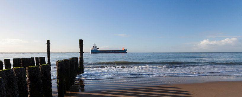 Westerschelde boot panorama van Marika Rentier