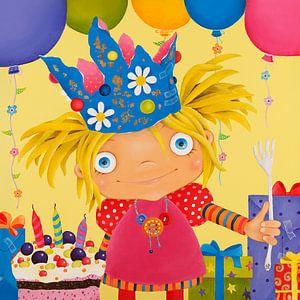 Prinses verjaardag met taart.