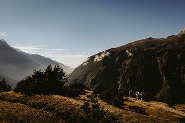 Hikers in de Nepalese bergen