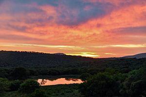 Zonsondergang Kwazulu natal van Hermineke Pijls