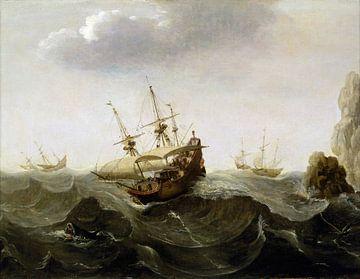 Schiff auf rauer See, Cornelisz Verbeecq