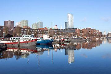 haventje in de stad Rotterdam van