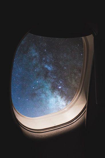 Vliegtuig in het universum