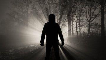 Man in de mist van
