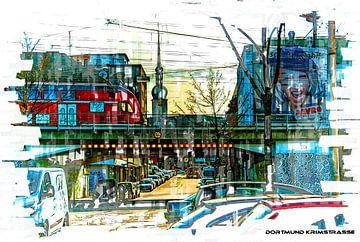 Dortmund op het station Pop Art van Johnny Flash