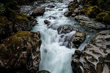 In beweging - Haast Pass, Nieuw-Zeeland van Linda Bouritius