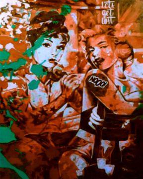 Audrey Hepburn vs Marilyn Monroe von Felix von Altersheim