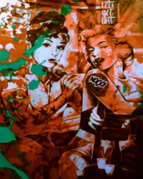 Audrey Hepburn vs Marilyn Monroe van Felix von Altersheim