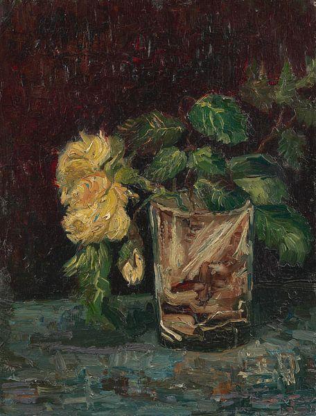 Vincent van Gogh, Glas mit gelben Rosen von 1000 Schilderijen