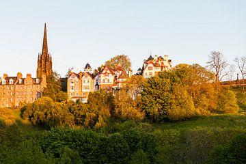 Castlehill in der Altstadt von Edinburgh von Werner Dieterich