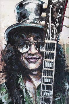 Slash (Guns N' Roses) malerei von Jos Hoppenbrouwers