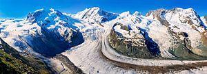Panorama Gornergletscher in de Alpen