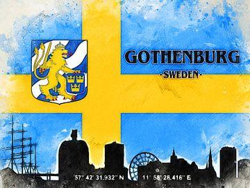Göteborg von Printed Artings