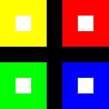 Kleurpermutatie | ID=07 | V=06 | P #01 | WD-RBGY van Gerhard Haberern