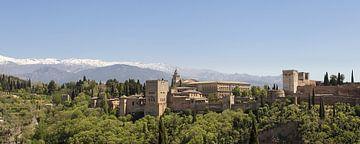 panorama van het Alhambra in Granada von Antwan Janssen