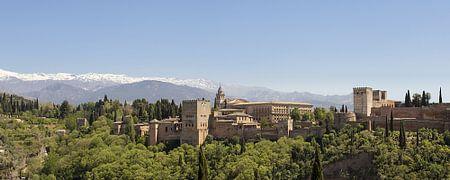 panorama  Alhambra in Granada