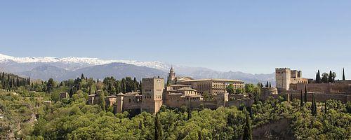 panorama van het Alhambra in Granada