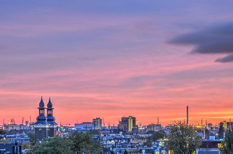 Purple skies over paradise van Frans Blok