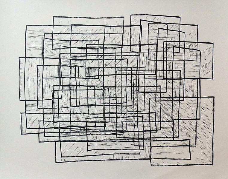 drie vormen door elkaar