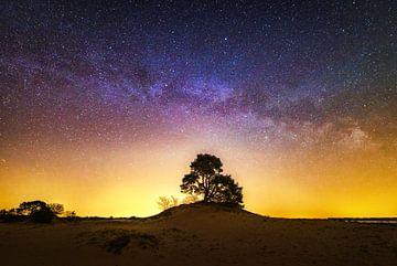 Milchstraße am Himmel über Holland sur Albert Dros