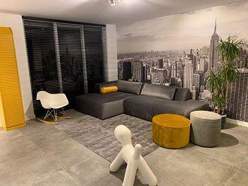 Kundenfoto: New York - Schwarz-Weiß-Panorama über Manhattan von Toon van den Einde