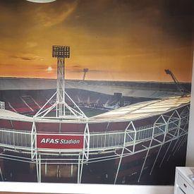 Klantfoto: Afas Stadion Alkmaar van Mario Calma, als behang