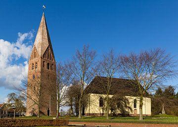 Hervormde kerk met vrijstaande toren in Schildwolde
