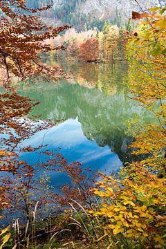 Lac de montagne en automne sur Susanne Bauernfeind