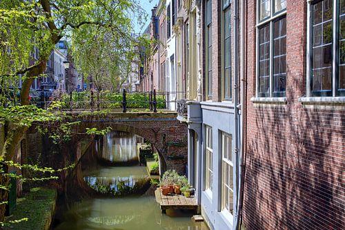 De Kromme Nieuwegracht in Utrecht in de lente (7) van
