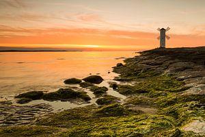 Le phare du moulin (Usedom) au coucher du soleil
