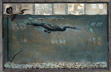 Taucherscharbe, Vogel, Otto H. Bacher, 1921 von Atelier Liesjes