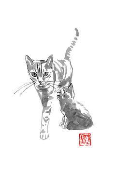 Katze und Mutter von philippe imbert