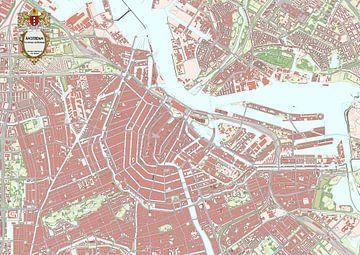 Kaart van binnenstad Amsterdam van