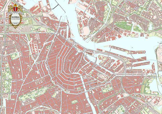Kaart van binnenstad Amsterdam