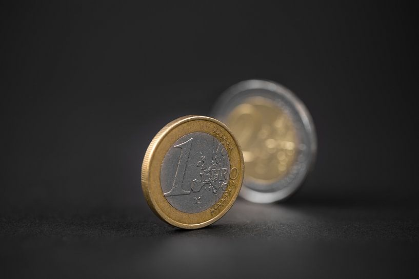 Een euromuntstuk van videomundum